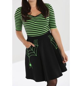 Hell Bunny SPECIAL ORDER Hell Bunny Miss Muffet Mini Skirt Green