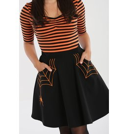 Hell Bunny SPECIAL ORDER Hell Bunny Miss Muffet Mini Skirt Orange