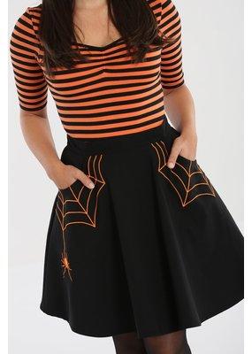Hell Bunny PRE ORDER Hell Bunny Miss Muffet Mini Skirt Orange