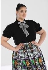 Hell Bunny SPECIAL ORDER Hell Bunny Skelli Bow Blouse