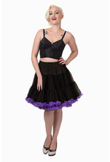 Banned PRE ORDER Banned Wild Fire Petticoat Black Purple 21'