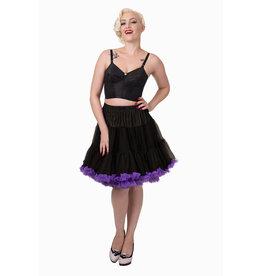 Banned PRE ORDER Banned Wild Fire Petticoat Black Purple 21'