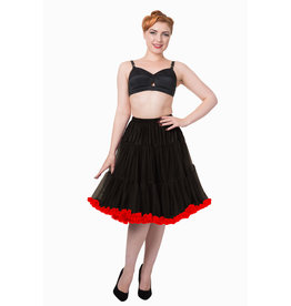 Banned PRE ORDER Banned Bright Lights Petticoat Black Red 23'