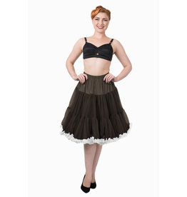 Banned PRE ORDER Banned Bright Lights Petticoat Black White 23'