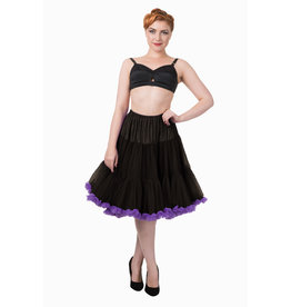 Banned PRE ORDER Banned Bright Lights Petticoat Black Purple 23'