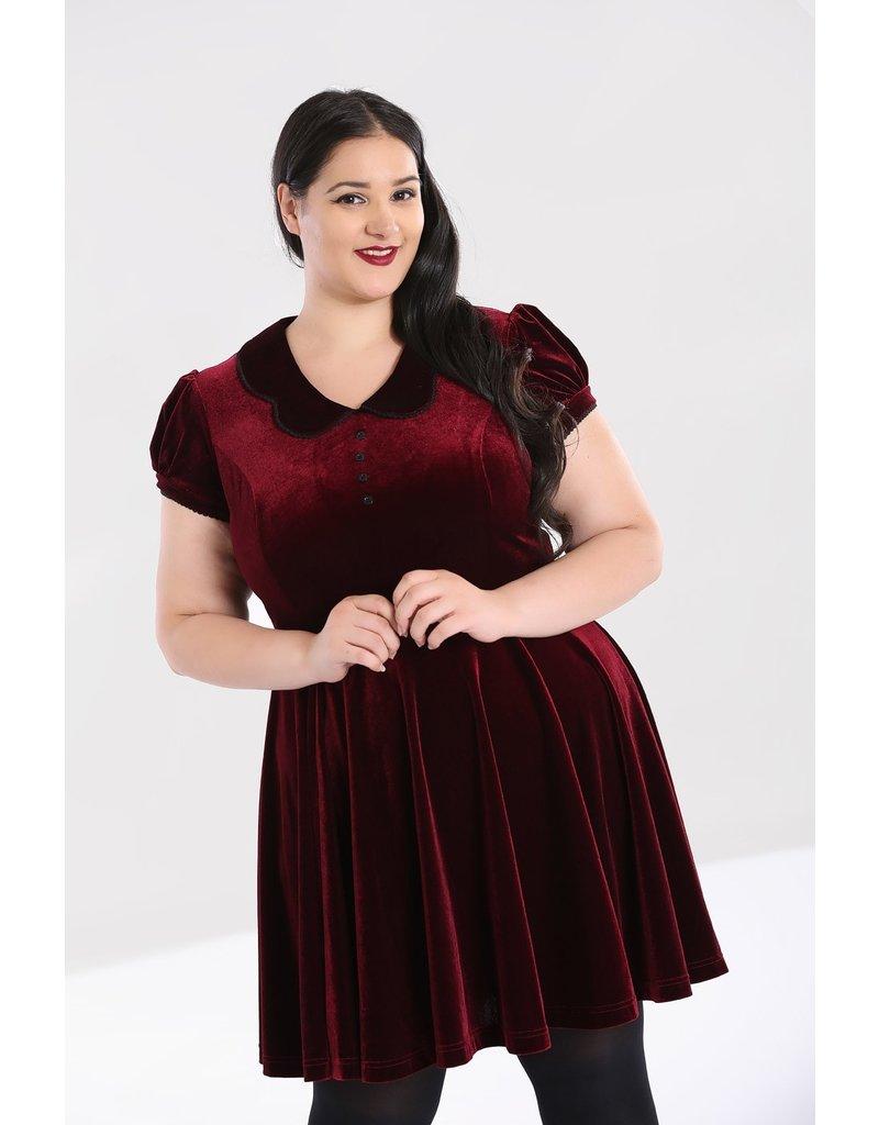 Hell Bunny PRE ORDER Hell Bunny Blaise Velvet Mini Dress