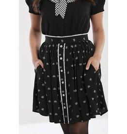 Hell Bunny PRE ORDER Hell Bunny Ribcage Heart Mini Skirt