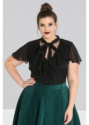 Hell Bunny PRE ORDER Hell Bunny Evanora Bow Blouse