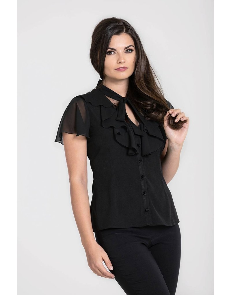 Hell Bunny SPECIAL ORDER Hell Bunny Evanora Bow Blouse
