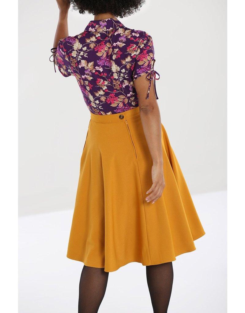 Hell Bunny PRE ORDER Hell Bunny Amelie 50s Skirt Mustard
