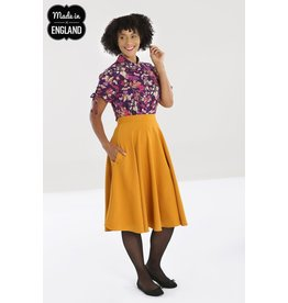 Hell Bunny SPECIAL ORDER Hell Bunny Amelie 50s Skirt Mustard