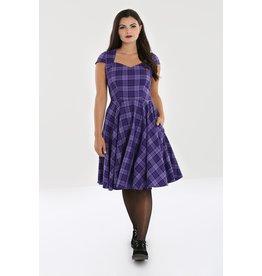 Hell Bunny Hell Bunny Kennedy Tartan Dress Purple