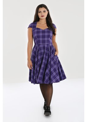 Hell Bunny Hell Bunny Kennedy Tartan Dress Purple