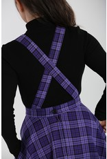 Hell Bunny PRE ORDER Hell Bunny Kennedy Pinafore Dress Purple