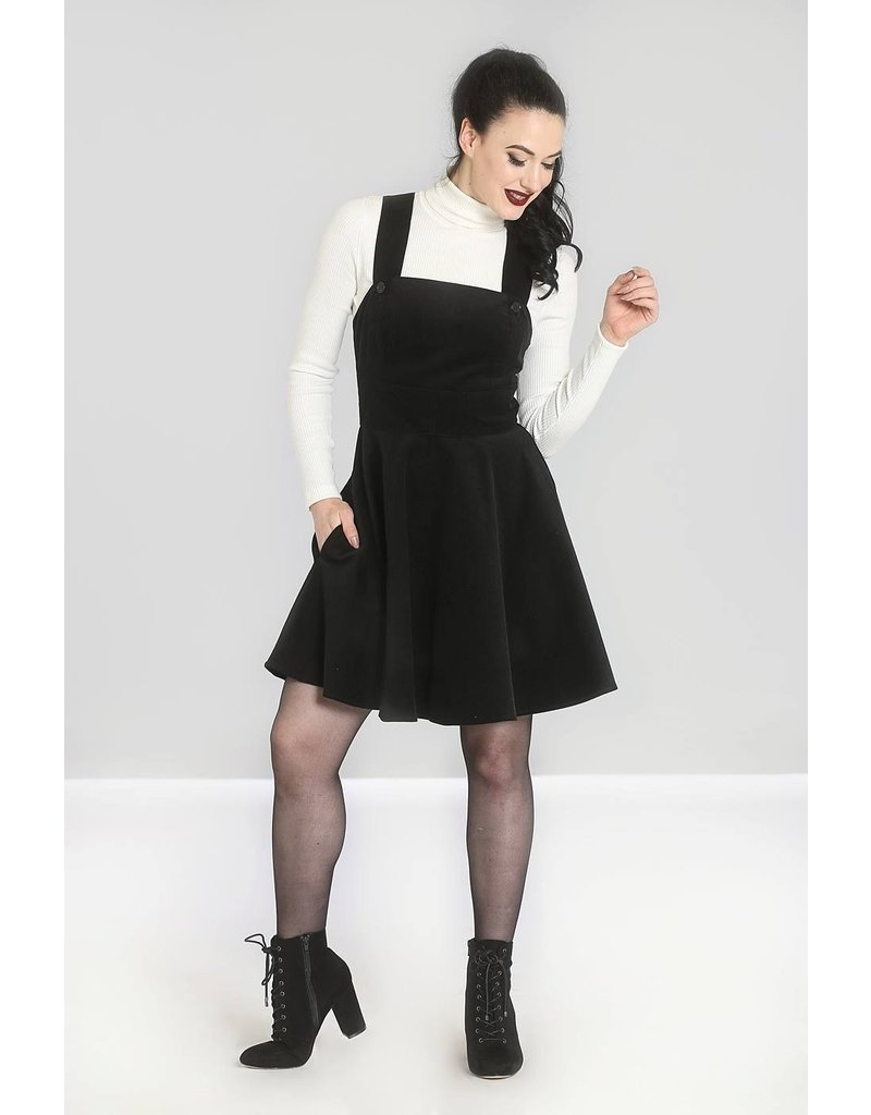 Hell Bunny PRE ORDER Hell Bunny Wonder Years Pinafore Dress Black
