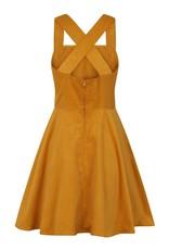 Hell Bunny PRE ORDER Hell Bunny Wonder Years Pinafore Dress Mustard