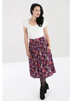 Hell Bunny PRE ORDER Hell Bunny Berry Crush Pleated Skirt