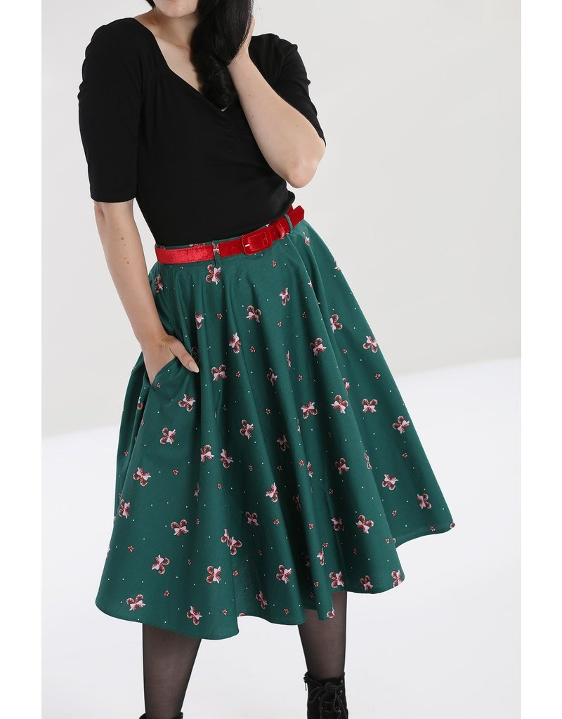 Hell Bunny PRE ORDER Hell Bunny Beth Candy Cane Skirt