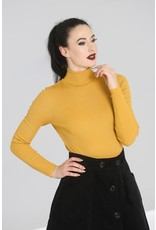 Hell Bunny SPECIAL ORDER Hell Bunny Spiros Knitted Top Mustard
