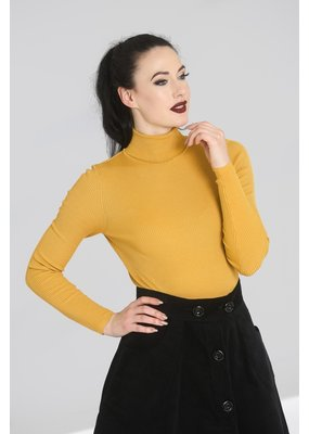 Hell Bunny PRE ORDER Hell Bunny Spiros Knitted Top Mustard