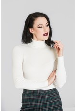 Hell Bunny SPECIAL ORDER Hell Bunny Spiros Knitted Top Ivory