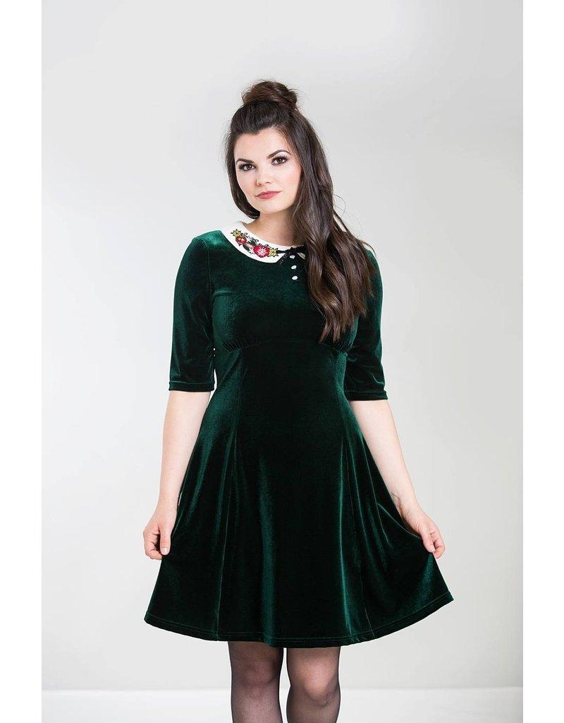 Hell Bunny PRE ORDER Hell Bunny Nicola Velvet Mini Dress