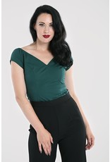 Hell Bunny PRE ORDER Hell Bunny Petunia Top Forest Green