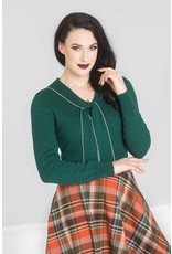 Hell Bunny PRE ORDER Hell Bunny Connie Jumper Forest Green