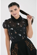 Hell Bunny PRE ORDER Hell Bunny Trick or Treat Blouse