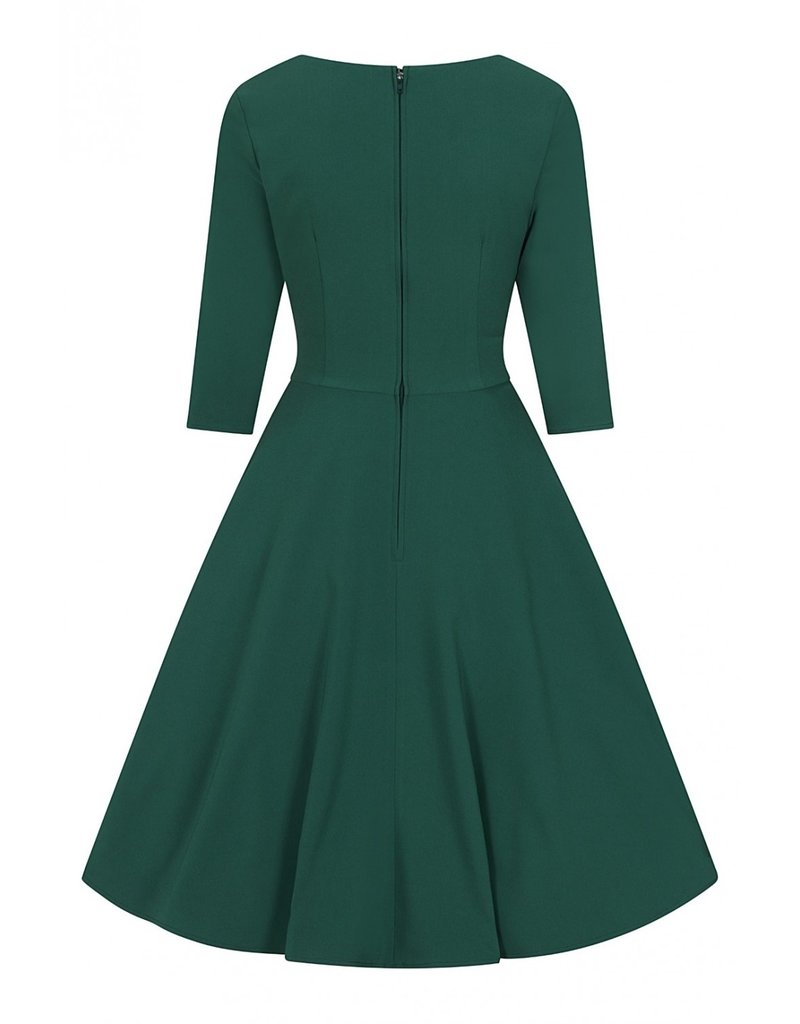 Hell Bunny PRE ORDER Hell Bunny Patricia Swing Dress Green