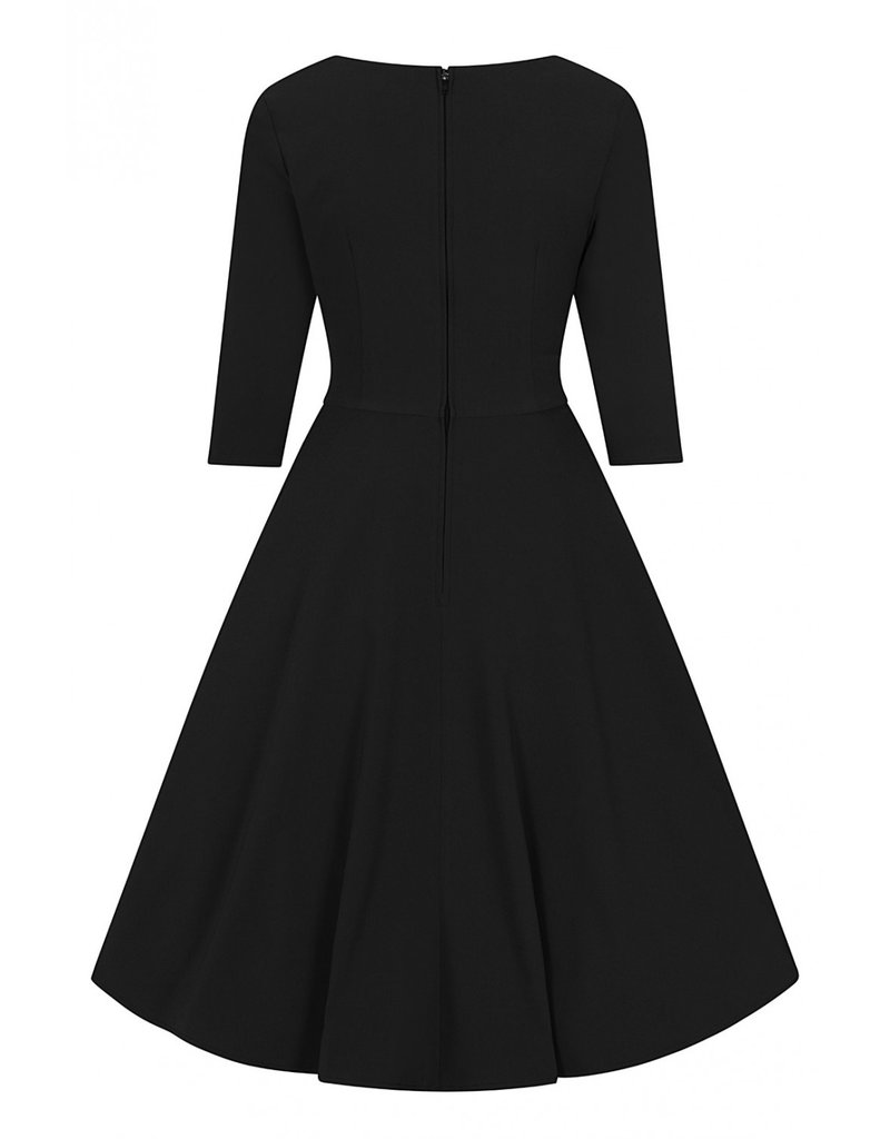 Hell Bunny SPECIAL ORDER Hell Bunny Patricia Swing Dress Black