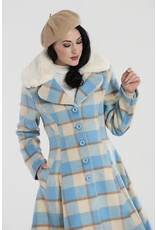 Hell Bunny SPECIAL ORDER Hell Bunny Millicent Checked Coat Blue