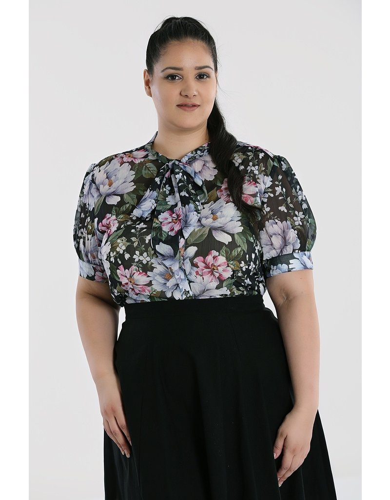 Hell Bunny PRE ORDER Hell Bunny 40s Magnolia Blouse