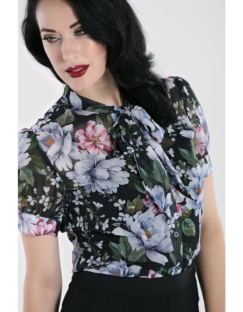 Hell Bunny SPECIAL ORDER Hell Bunny 40s Magnolia Blouse