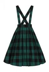 Hell Bunny Hell Bunny Teen Spirit Pinafore Skirt Green