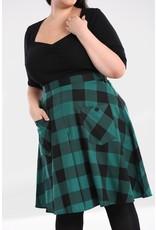 Hell Bunny SPECIAL ORDER Hell Bunny Teen Spirit Midi Skirt Green