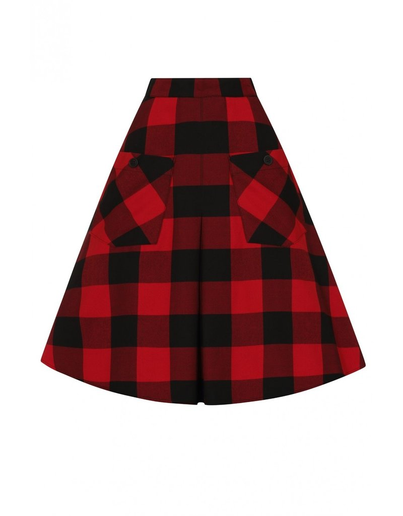 Hell Bunny PRE ORDER Hell Bunny Teen Spirit Midi Skirt Red