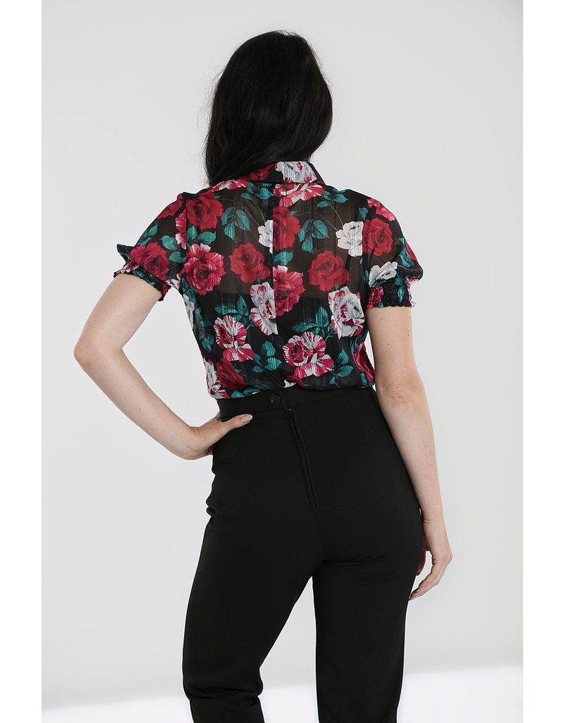 Hell Bunny PRE ORDER Hell Bunny Bed of Roses Blouse