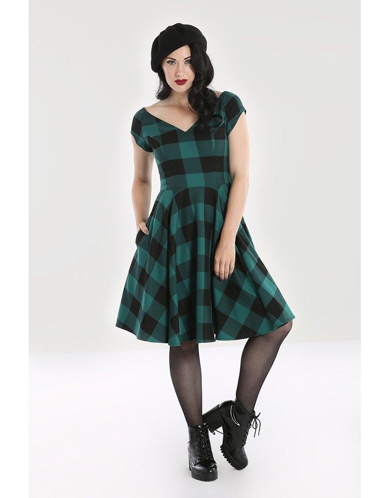 Hell Bunny PRE ORDER Hell Bunny Teen Spirit Dress Green