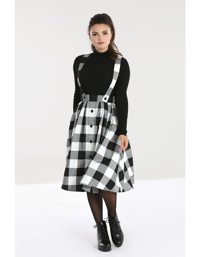 Hell Bunny SPECIAL ORDER Hell Bunny Teen Spirit Pinafore Skirt White