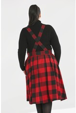 Hell Bunny PRE ORDER Hell Bunny Teen Spirit Pinafore Skirt Red