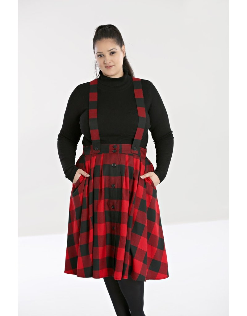 Hell Bunny SPECIAL ORDER Hell Bunny Teen Spirit Pinafore Skirt Red