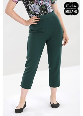 Hell Bunny SPECIAL ORDER Hell Bunny Carlie Cigarette Pants Green