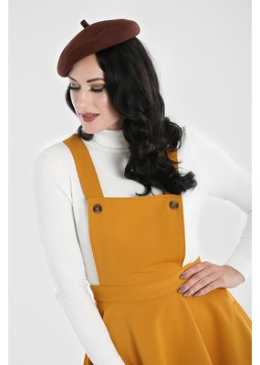Hell Bunny PRE ORDER Hell Bunny Amelie Pinafore Dress Mustard
