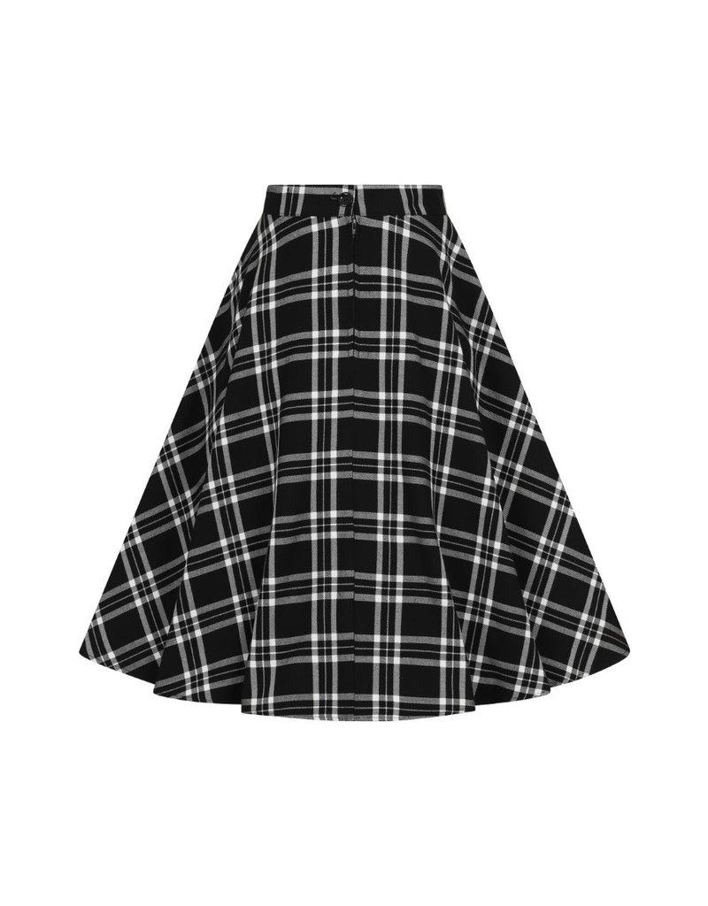 Hell Bunny SPECIAL ORDER Hell Bunny Islay Tartan Skirt Black