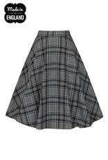 Hell Bunny SPECIAL ORDER Hell Bunny Islay Tartan Skirt Grey