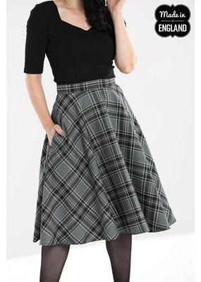 Hell Bunny PRE ORDER Hell Bunny Islay Tartan Skirt Grey