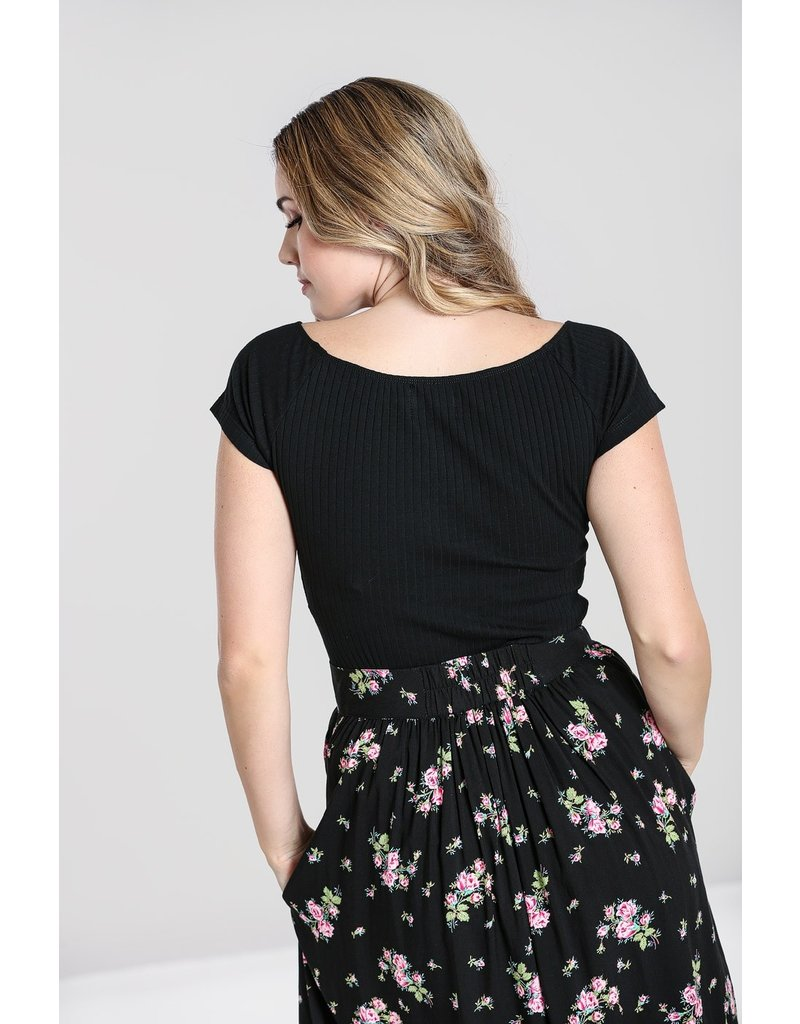 Hell Bunny SPECIAL ORDER Hell Bunny Kimmie Top Black