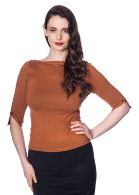 Banned PRE ORDER Dancing Days Addicted Jumper Brown