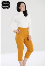 Hell Bunny SPECIAL ORDER Hell Bunny Amelie Cigarette Trousers Mustard